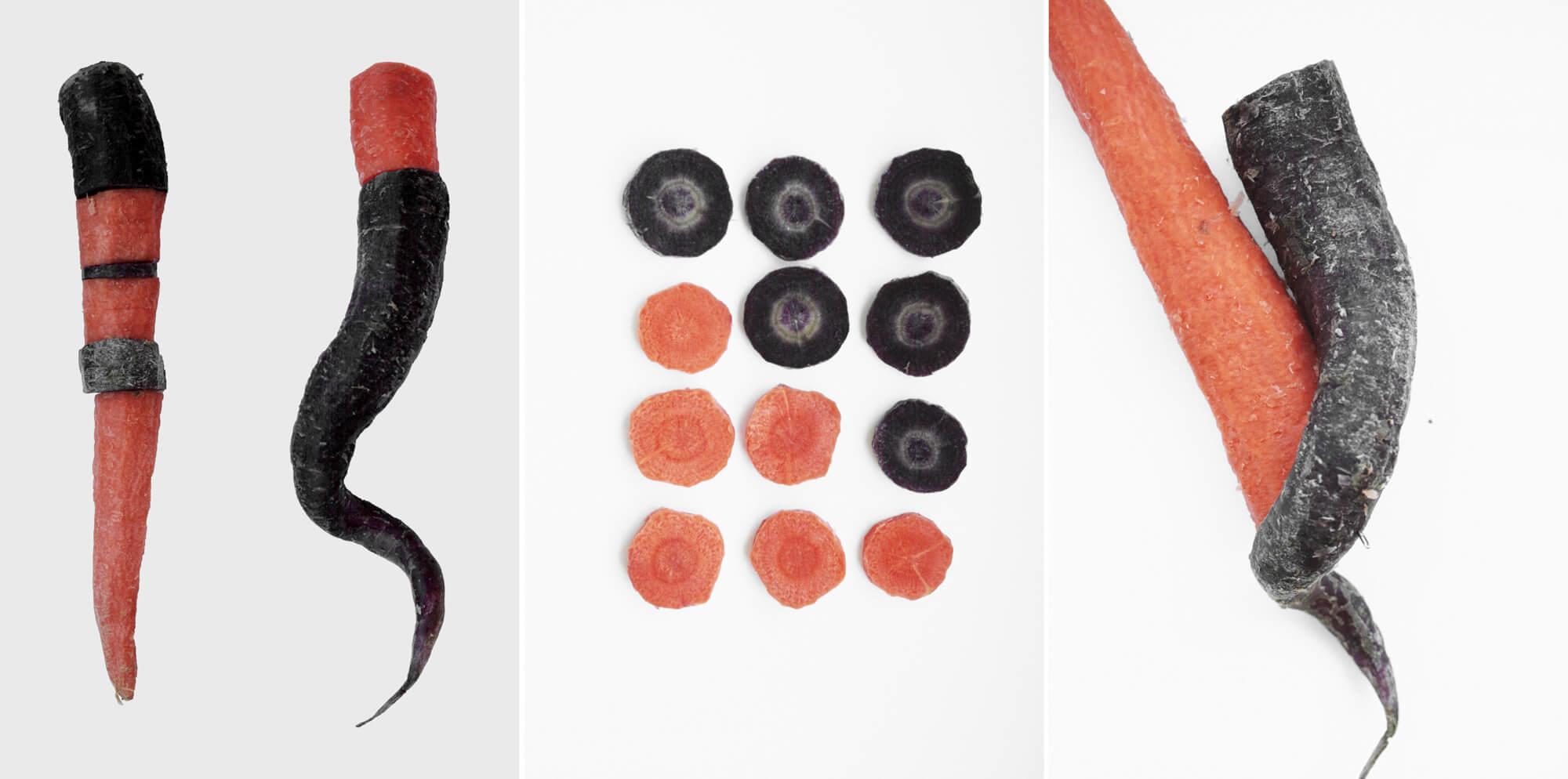a saucy carrot triptych