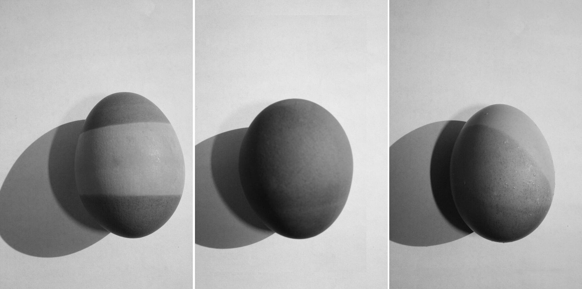 black and white geometric eggs