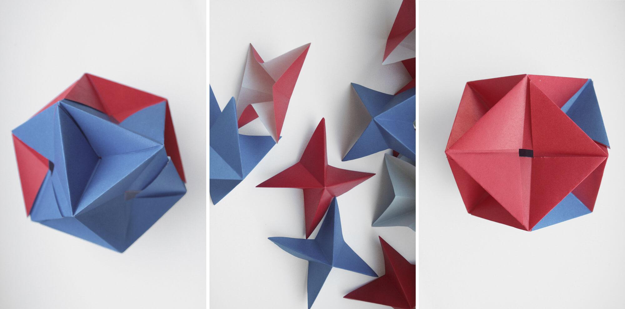 origami triptych