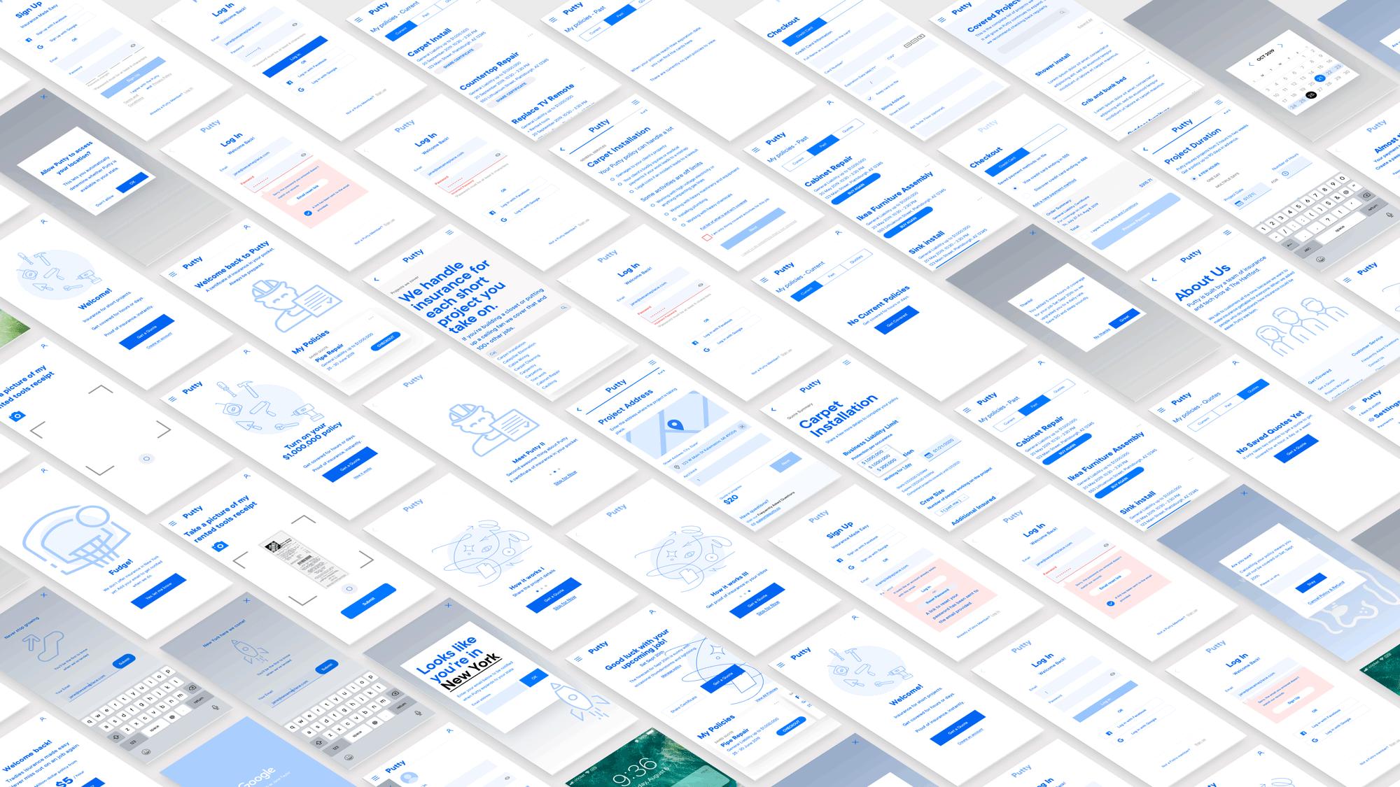 a sea of isometric mockups